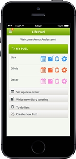 LifePuzl Monthly View Calendar App